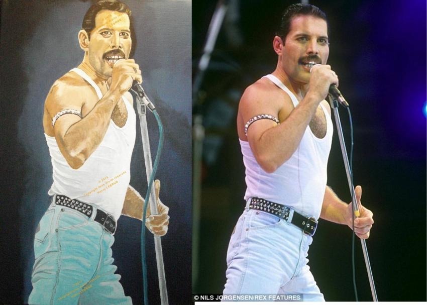 Freddie Mercury by lhommeloiret